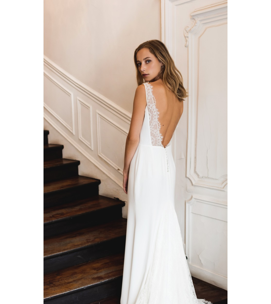 Robe de mariée Blanche - Harpe Paris