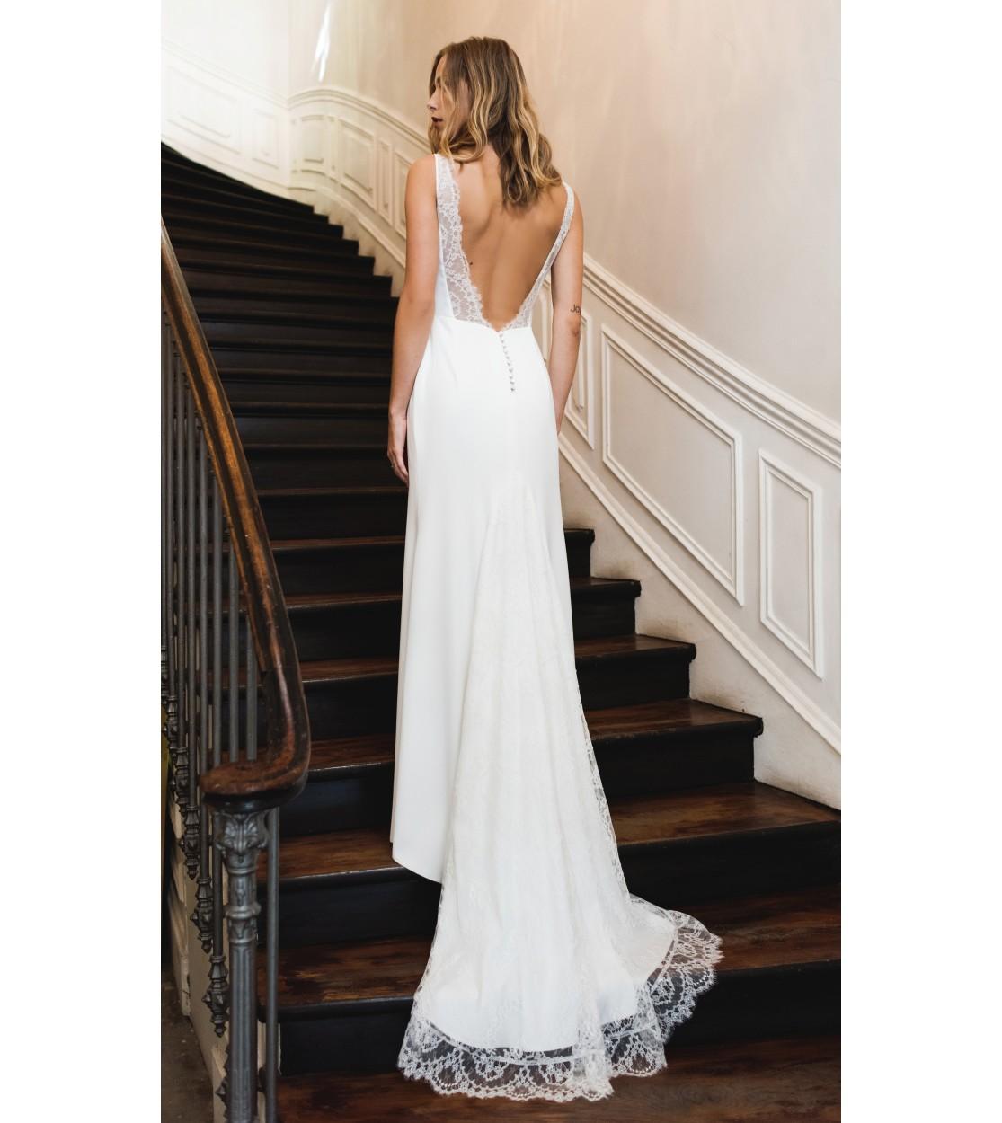 Blanche wedding dress - Harpe Paris