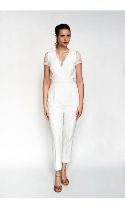 La combinaison pantalon de la mariée