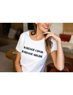 T.shirt Mariage Covid Mariage Solide